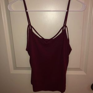 American Eagle soft & sexy maroon tank top